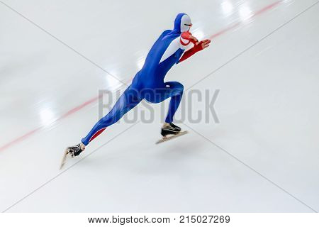 fast start athlete speed skater of speed skating competition