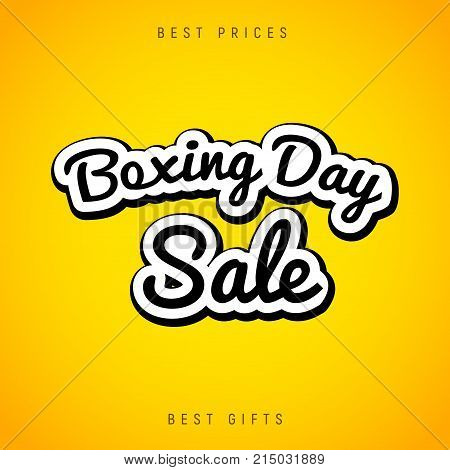 Boxing Day sale banner abstract background. Christmas boxing day celebration design flyer.