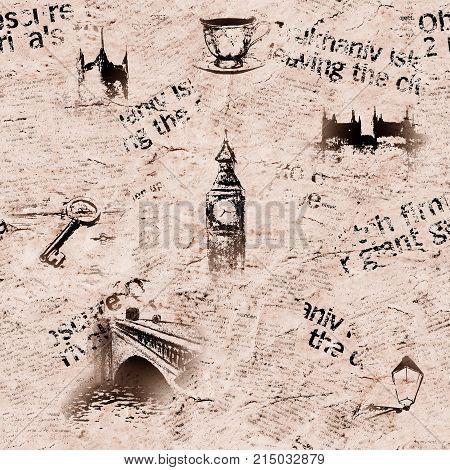 Vintage Grunge London Background