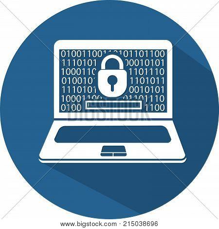 Silhouette Laptop  Security   Flat