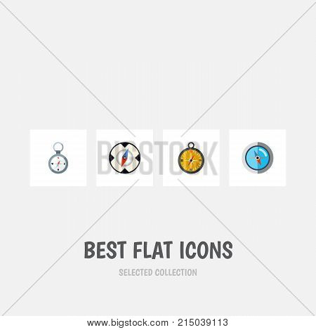 Flat Icon Orientation Set Of Navigation, Direction, Geography And Other Vector Objects