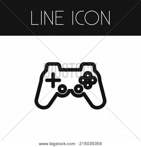 Controller Vector Element Can Be Used For Gaming, Controller, Joystick Design Concept.  Isolated Gaming Outline.