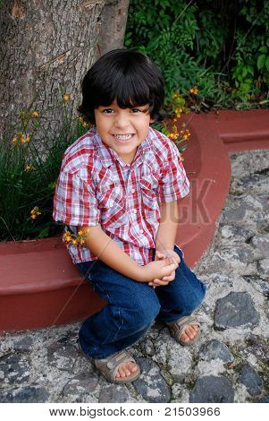 Adorable, smiling Hispanic boy