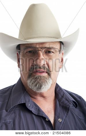 Old Cowboy Wearing Glasses