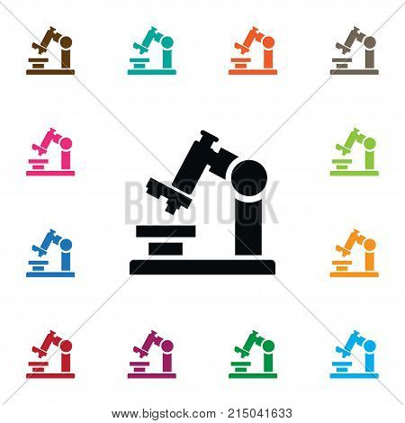 Microbiology Vector Element Can Be Used For Microbiology, Microscope, Zoom Design Concept.  Isolated Zoom Icon.
