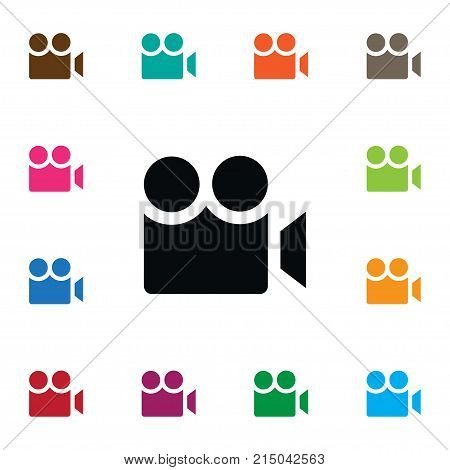 Cinematography Vector Element Can Be Used For Cinematography, Cinema, Photography Design Concept.  Isolated Cinema Icon.