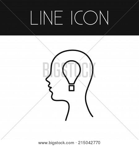 Invention Vector Element Can Be Used For Invention, Idea, Bulb Design Concept.  Isolated Idea Outline.