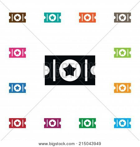 Label Vector Element Can Be Used For Access, Concert, Label Design Concept.  Isolated Access Icon.