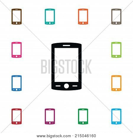 Touchscreen Vector Element Can Be Used For Cellphone, Touchscreen, Smartphone Design Concept.  Isolated Cellphone Icon.
