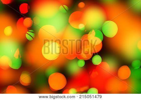 Abstract circular colorful bokeh background of Christmaslight