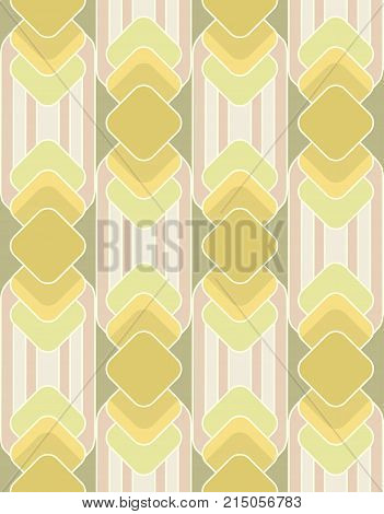 seamless background of squares and stripes in a sixties mod style, with faded colors