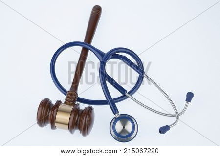 judge gavel and stethoscope