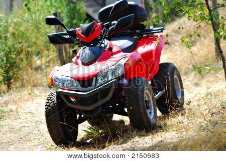 Red Quad Bike