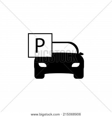 Car Parking zone Icon on whte background