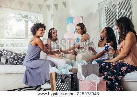 Female Friends Attending Baby Shower