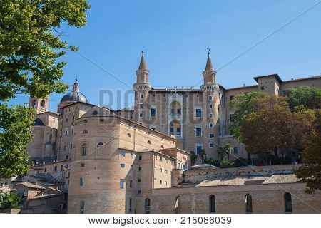 Front View of the Ducal Palace in Urbino
