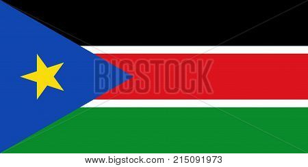 Flag of South Sudan. Vector illustration. World flag
