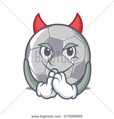 Devil football character cartoon style vector illustration
