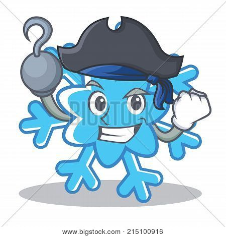 Pirate snowflake character cartoon style vector illustration