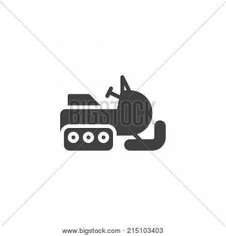 Snowmobile icon vector, filled flat sign, solid pictogram isolated on white. Snow sledge ski bike symbol, logo illustration.