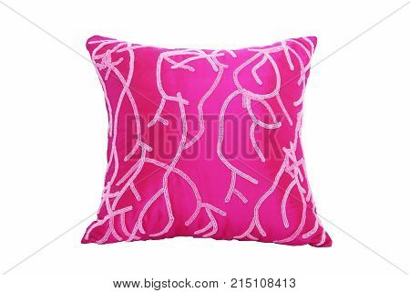 pink comfort pillow isolate on white background