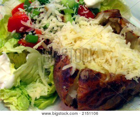 Baked Potato And Salad
