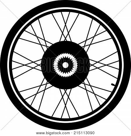 Electric solid axle bike wheel, shade picture