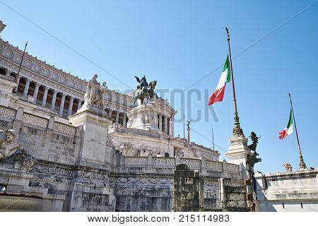 Il Monumento Nazionale A Vittorio Emanuele Ii As Vittoriano
