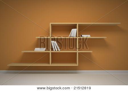 Bookshelf On The Wall