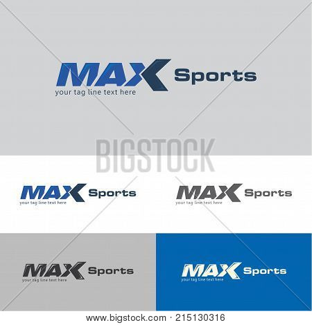 Max sports logo design template for sports companies