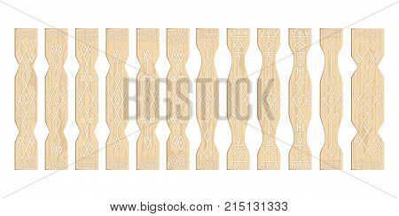 Fence in the Russian style, plywood, artistic processing of wood