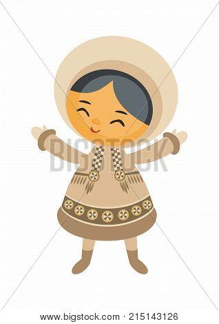 Cute Eskimo Girl.eps