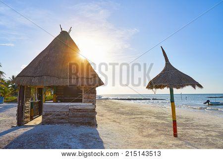 Holbox Island hut palapa in Quintana Roo of Mexico