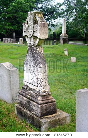 Celtic Cross in Maine Cemetery