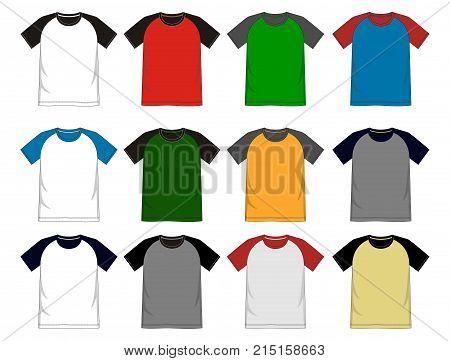 T Shirt Template Raglan.eps