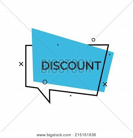 Discount creative lettering on bubble speech. Inscription can be used for leaflets, posters, banners