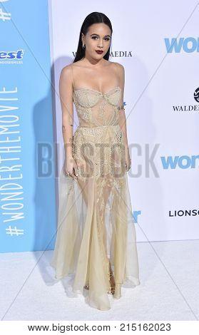 LOS ANGELES - NOV 14:  Bea Miller arrives for the 'Wonder' World Premiere on November 14, 2017 in Westwood, CA