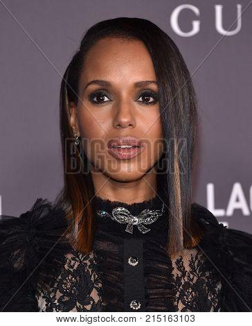 LOS ANGELES - NOV 04:  Kerry Washington arrives for the 2017 LACMA Art + Film Gala on November 04, 2017 in Los Angeles, CA