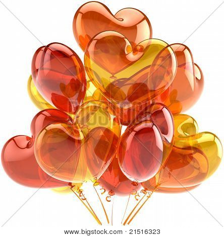 Party balloons happy birthday shiny decoration