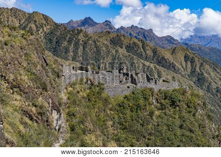 The Sayaqmarka Ruins are thought to be a military outpost used to protect the inca trail