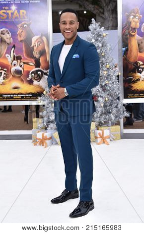 LOS ANGELES - NOV 12:  Devon Franklin arrives for the 'The Star' World Premiere on November 12, 2017 in Westwood, CA