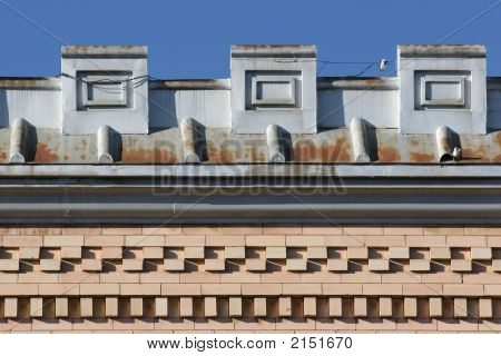 Vintage Building Detail And Brick