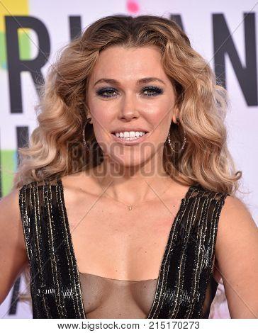 LOS ANGELES - NOV 19:  Rachel Platten arrives for the 2017 American Music Awards on November 19, 2017 in Los Angeles, CA