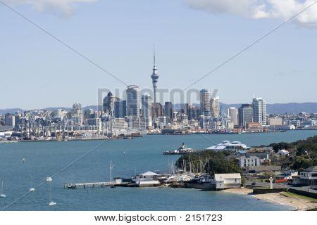 Auckland City Cbd And Wharf