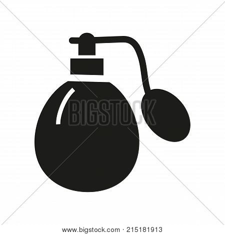 Simple icon of scent bottle. Perfumery, deodorant, perfume. Mall wayfinding concept. Can be used for topics like shopping, beauty, cosmetics