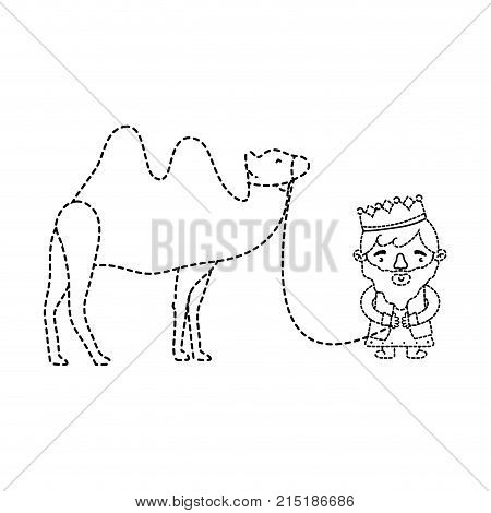 Wise man of merry christmas and nativity scene theme Isolated design Vector illustration