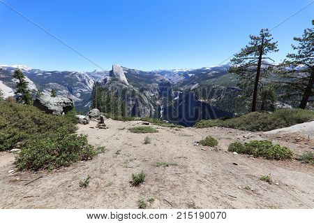 Half Dome in Yosemite National Park. California. USA