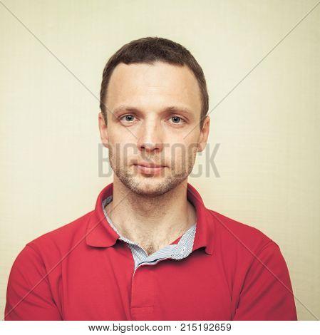 Face Studio Portrait Of Young Adult Man