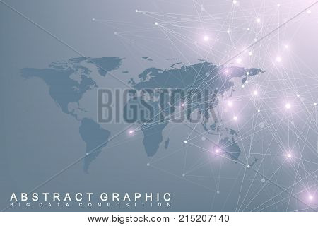 Political world map vector photo free trial bigstock political world map with global technology networking concept digital data visualization lines plexus gumiabroncs Choice Image