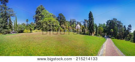RUSSIA, SOCHI, AUGUST 30, 2015: Panoramic view of the Arboretum, Sochi, Russia on August 30, 2015.